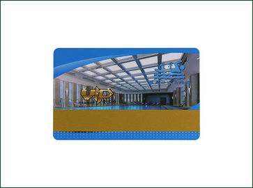13.56MHz Plastic RFID Hotel Key Cards , Thin PVC Hotel Room Access Cards