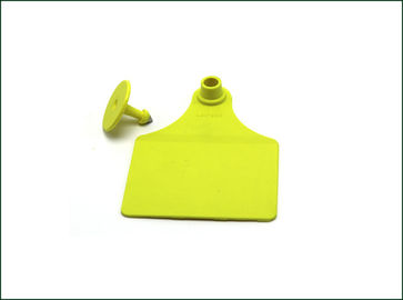 RFID Electronic Ear Tags For Cattle , Custom Cattle Ear Tags Anti Bite Structure
