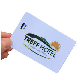 Matte PVC MIFARE RFID Hotel Key Cards 13.56MHz CR80 Magnetic Stripe