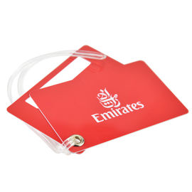Glossy Luggage Name Tag / Custom Printed Luggage Tags With Transparent Loop