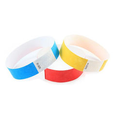 Paper Tyvek RFID Wristbands , Pre Printed HF RFID Wristband Access Control