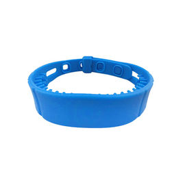 Long Reading Distance RFID Silicone Wristband / Alien H3 Chip 860MHz-960MHz