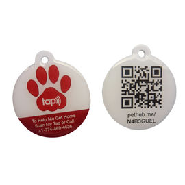 Eco Friendly NFC RFID Epoxy Tag With QR Code Printing Customized Size