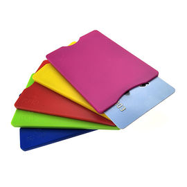 Durable Hard Plastic ABS RFID Blocking Card Sleeve Full Color Offset Printing