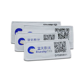 ISO18000-6C Passive RFID Laundry Tag NXP UCODE8 Chip With Barcode Printing