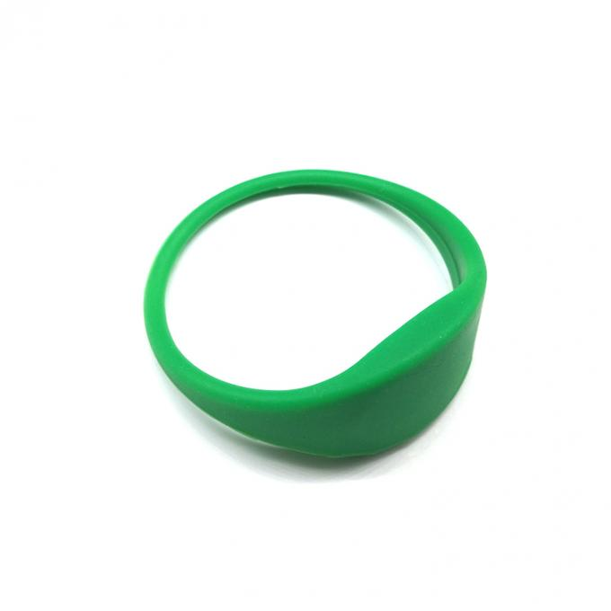 Durable MF1 IC S50 13.56 Mhz RFID Wristband / Colorful Classic Mifare 1k Wristband